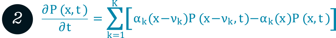 Chemical master equation (CME) for well-mixed stochastic reaction kinetics.