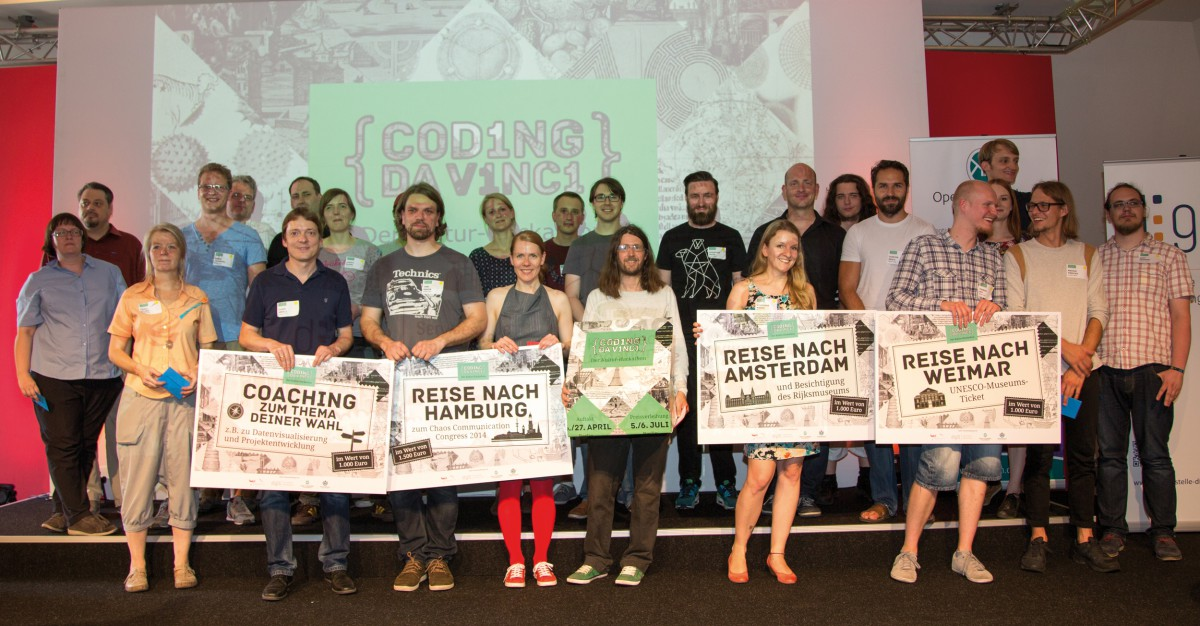 Winners of the first culture hackathon Coding da Vinci