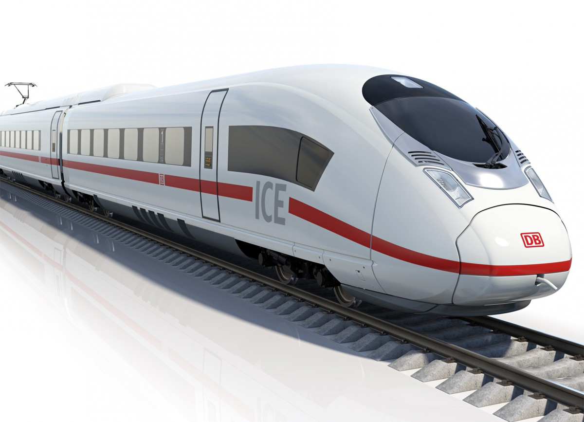ICE high speed trains can consist of several railcars in different orders and orientations.