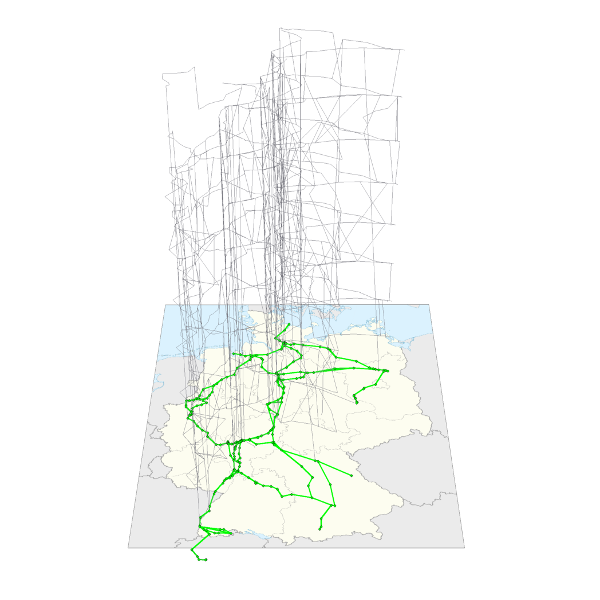 Strategic planning of ICE train rotations: Hypergraph visualization tool HyDraw of Ricardo Euler and Gerwin Gamrath based on JavaView of Konrad Polthier.