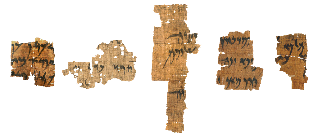 Sample written papyrus fragments
